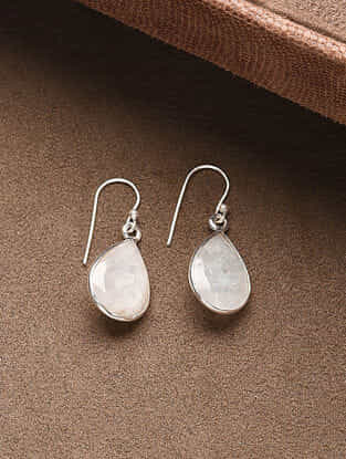 White Silver Handcrafted Earrings