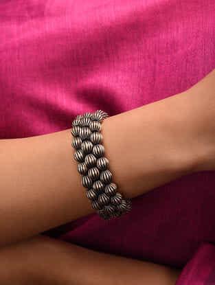 Silver Tone Tribal Bracelet