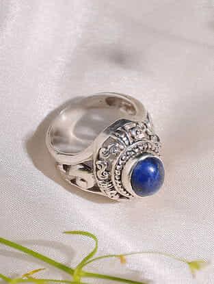 Lapis Lazuli Sterling Silver Ring(Size: 17.5)