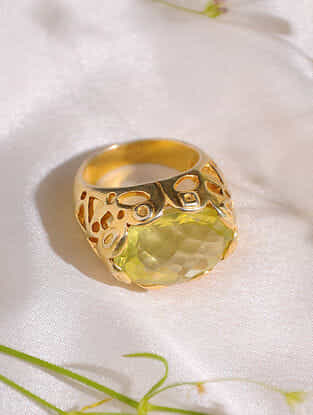 Citrine  Sterling Silver Ring (Size: 18.5)