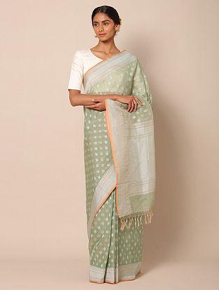 Green Benarasi Kadwa Cotton Saree
