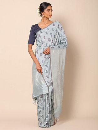 Blue Benarasi Silk Kadwa  Saree