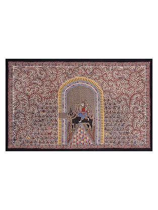 Goddess Pavavadi Mata Ne Pachedi Artwork (L - 41.5in, W - 64in)