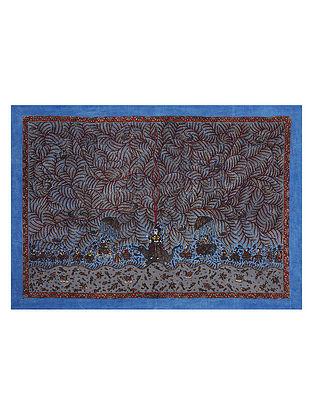 Goddess Bauchar and Tree of Life Mata Ne Pachedi Artwork (L - 42in, W - 59in)
