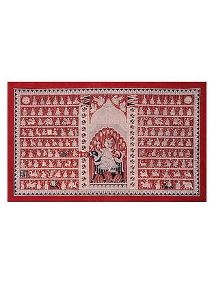 Goddess Vahanvati Mata Ne Pachedi Artwork (L - 37.5in, W - 62in)