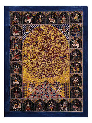 Goddesses and Tree of Life Mata Ne Pachedi Artwork (L - 55in, W - 42in)
