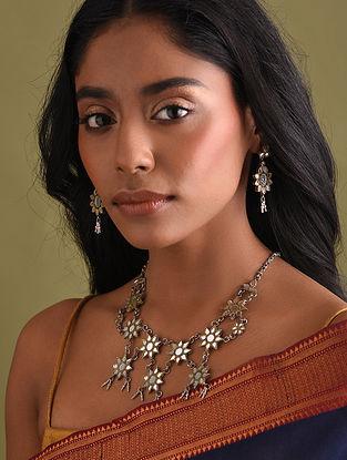 Mirror Tribal Silver Necklace Set