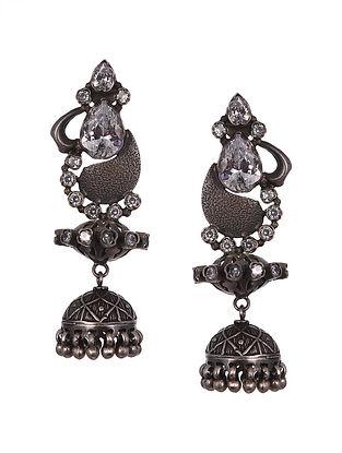Sterling Silver Jhumki Earrings with Pearls