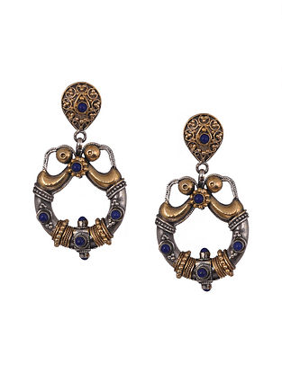 Dual Tone Sterling Silver Earrings