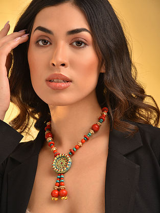 Red Turquosie Handcrafted Necklace
