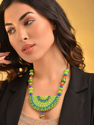 Green Blue Handcrafted Necklace