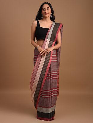 Multicolour Natural Dyed Handwoven Cotton Saree
