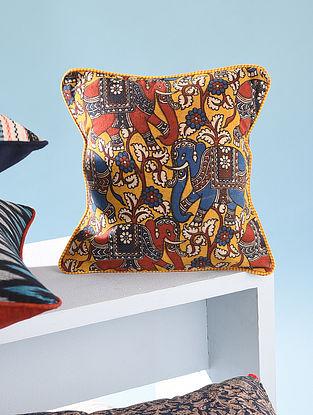 Multicolor Cotton Block Print Cushion Cover