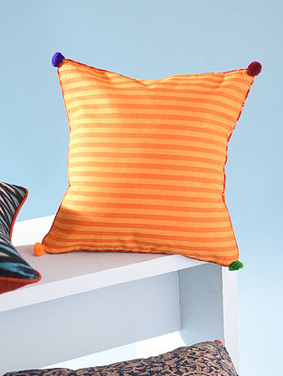Yellow and Orange Cotton Cushion Cover