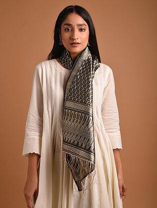 Black Benarasi Brocade  Silk Stole