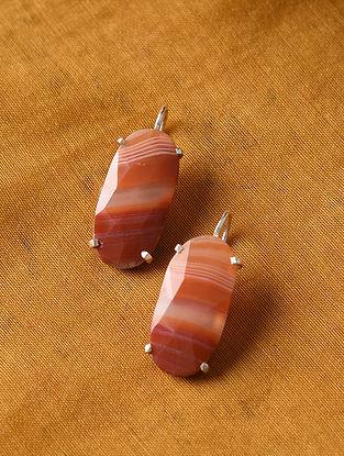 Botswana Agate Silver Earrings