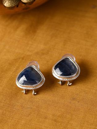 Sapphire Silver Earrings