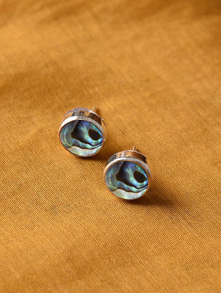 Mother Of Pearl Silver Studs Earrings