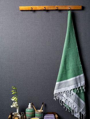 Green Myriad Lightweight Cotton Bath Towel