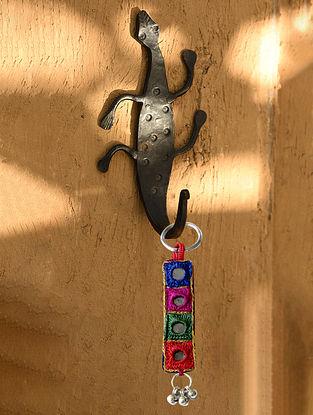 Handmade Iron Lizard Wall Hook (L - 7.1in, W - 3.7in)