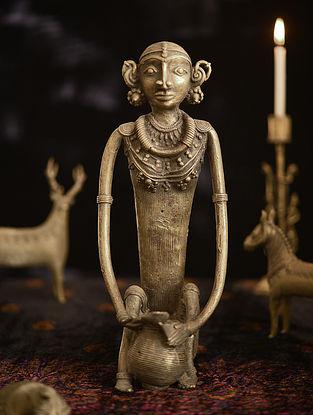 Handmade Brass Figure (L - 5.6in, W - 4.5in, H - 11in)