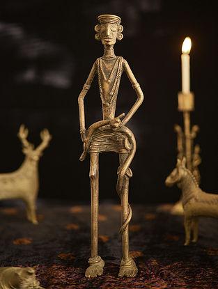 Handmade Brass Figure (L - 2.2in, W - 3.2in, H - 12.5in)