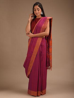 Pink Handwoven Ikat Cotton Silk Saree
