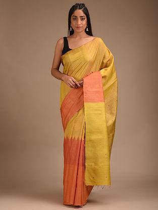 Gold Handwoven Tussar Silk Saree