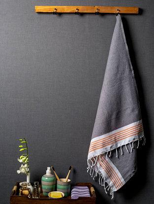 Slate Myriad Lightweight Cotton Bath Towel
