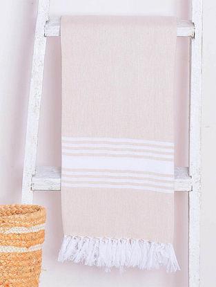 Beige Chevron Lightweight Cotton Bath Towel