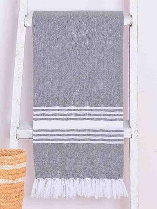 Charcoal Chevron Lightweight Cotton Bath Towel