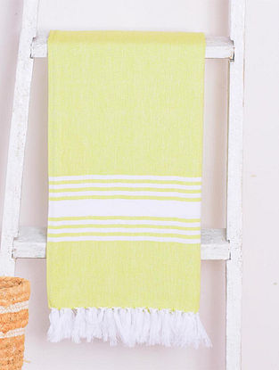 Pastel Green Chevron Lightweight Cotton Bath Towel