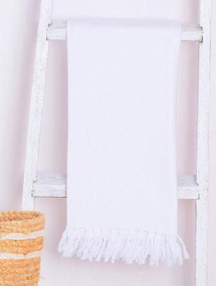 White Chevron Lightweight Cotton Bath Towel