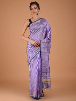 Purple Handwoven Silk Saree