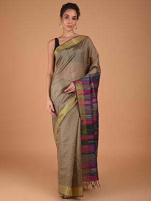 Brown Handwoven Silk Saree
