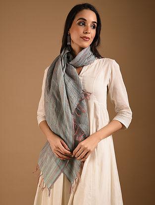 Grey Handwoven Linen Stole