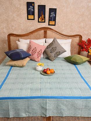 Multicolored Hand Block Printed Queen Bedspread (L- 90in, W-72in)