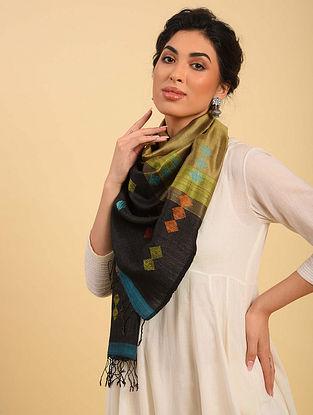 Multicolour Handwoven Jamdani  Silk Stole