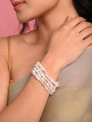 Pink Agate Beaded Bracelet