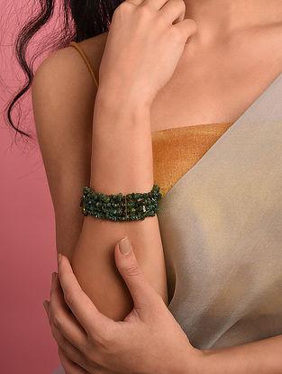 Green Agate Beaded Bracelet