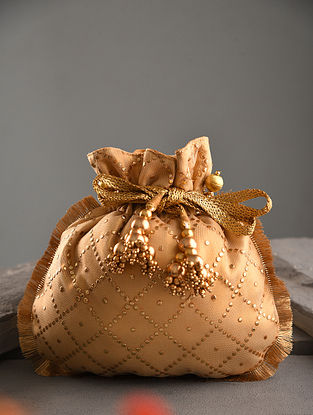 Gold Handcrafted Net Potli