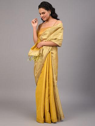 Gold Handwoven  Cotton Saree