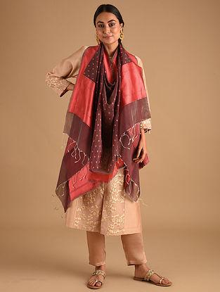 Brown Handwoven Benarasi Cotton Silk Dupatta