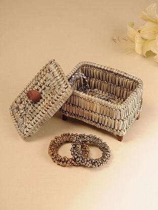 Palm Leaf Brown Jewellery Box (L - 7in, W - 4.5in, H - 5.5in)