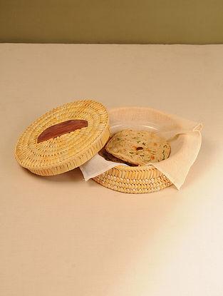 Palm Leaf Light Sunset Chapati box (Dia - 10in, H - 4in)