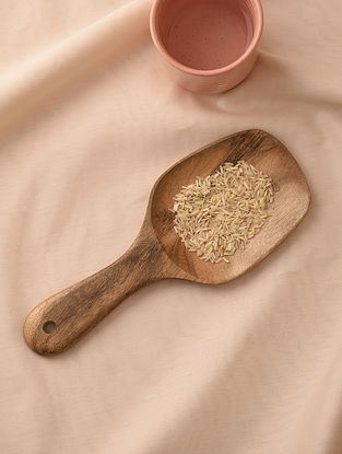 Natural Neem Wood Rice Server (L - 9.5in, W - 3.7in)