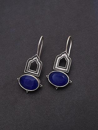 Blue Handmade Silver Earrings