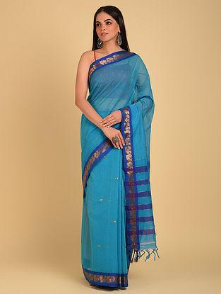 Blue Handloom Cotton Saree