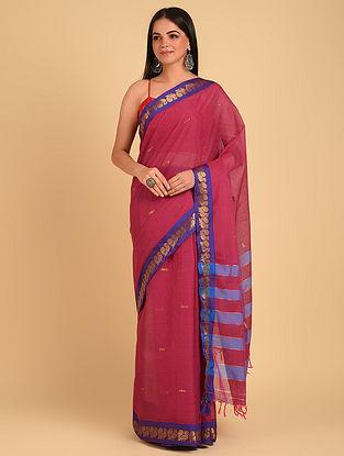 Pink Handloom Cotton Saree