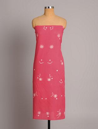 Pink Shibori Cotton  Fabric